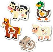 """Животните във фермата - 5 пъзела с нестандартна форма от серията """"Baby"""" - пъзел"""