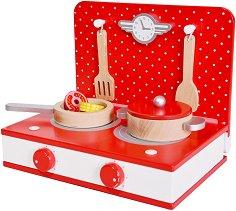 Готварски комплект - Детски дървен комплект за игра -