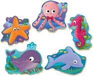 """Морски животни - 5 пъзела с нестандартна форма от серията """"Baby"""" -"""