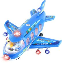Самолет - Детска играчка със светлинен и звуков ефект - играчка