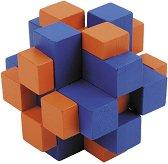 """Кръстосан куб - 3D пъзел от серията """"IQ тест"""" -"""