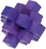 """Лилав куб - 3D пъзел от серията """"IQ тест"""" -"""