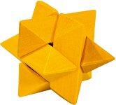 """Жълта звезда - 3D пъзел от серията """"IQ тест"""" -"""