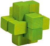 """Зелен кръст - 3D пъзел от серията """"IQ тест"""" -"""