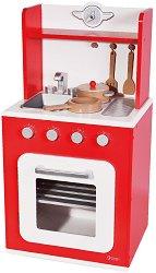 Дървена детска кухня - Комплект с аксесоари -
