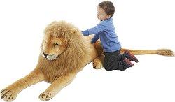 Лъв - Плюшена играчка с дължина 193 cm - творчески комплект