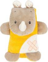 """Носорог - Мека бебешка играчка от серията """"Buddiezzz"""" -"""