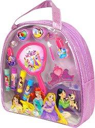 """Детски комплект с гримове в чантичка - Disney Princess - От серията """"Принцесите на Дисни"""" - играчка"""