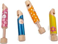 Дървена свирка - Детски музикален инструмент - играчка