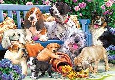 Кучета в градината - пъзел