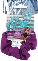"""Детски ластици за коса - Frozen 2 - Комплект от 7 броя от серията """"Замръзналото кралство"""" - раница"""