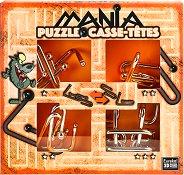 """Puzzle Mania - Вълк - Комплект 4 броя 3D пъзела от серията """"Casse-Tetes"""" -"""