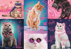 Супер котки - пъзел