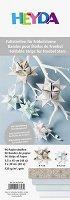 Хартия за оригами - Мента и сребро - Комплект от 96 ленти с размери 1 x 30 cm и 1.5 x 45 cm