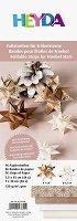 Хартия за оригами - Златно и розово - Комплект от 96 ленти с размери 1 x 30 cm и 1.5 x 45 cm