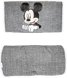 "Текстилна подложка - Deluxe: Mickey Grey - Аксесоар за детски стол за хранене ""Alpha+"" - продукт"