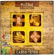 """Expert Wooden Puzzles - Комплект от 4 броя 3D пъзела от серията """"Casse-Tetes"""" -"""