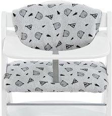 """Текстилна подложка - Deluxe: Teddy Grey - Аксесоар за детски стол за хранене """"Alpha+"""" - продукт"""
