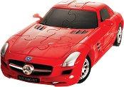 Кола пъзел - Mercedes SLS AMG GT - Сглобяем 3D пъзел - количка