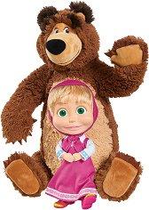 Маша и Мечока - Комплект плюшена и текстилна играчка -