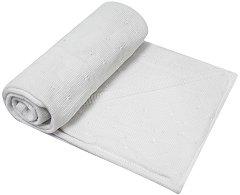 Бебешко памучно плетено одеяло с качулка - С размери 90 x 90 cm -