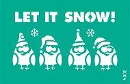 Самозалепващ шаблон - Let it Snow - Размери 13 x 20 cm