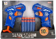 "2 микро бластера - Комплект с 10 броя меки стрелички от серията ""Blaze Storm"" - играчка"