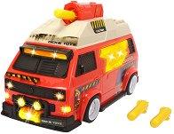 """Бус изстрелвач - VW T3 Camper - Играчка със светлинни и звукови ефекти от серията """"Action"""" -"""