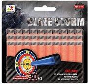 """Комплект от 30 броя меки стрелички - От серията """"Blaze Storm"""" - играчка"""