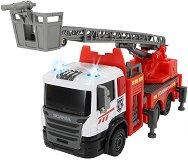 """Пожарен камион - Метална играчка със светлинни и звукови ефекти от серията """"SOS"""" -"""