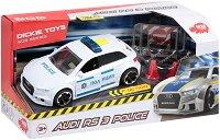 """Полицейска кола - Audi RS 3 - Детска играчка с аксесоари и светлинни и звукови ефекти от серията """"SOS"""" - играчка"""