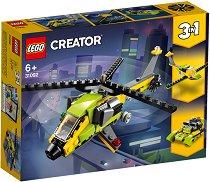 """Приключение с хеликоптер - 3 в 1 - Детски конструктор от серията """"LEGO Creator"""" - играчка"""