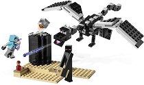 """Последната битка - Детски конструктор от серията """"LEGO Minecraft"""" - раница"""