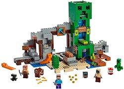 """Мина - The Creeper - Детски конструктор от серията """"LEGO Minecraft"""" - играчка"""