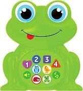 Бебета животни - Смешна жабка - Детска музикална играчка - играчка