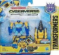 """Sky-Byte with Driller Drive - Трансформиращ се комплект от серията """"Transformers  Cyberverse"""" - играчка"""