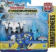 """Prowl with Cosmic Patrol - Трансформиращ се комплект от серията """"Transformers  Cyberverse"""" - играчка"""