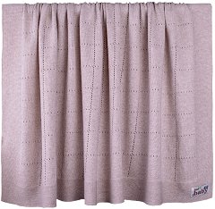 Бебешко памучно плетено одеяло - С размери 90 x 90 cm -