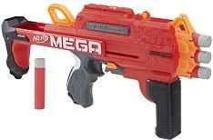 """Бластер - Mega Bulldog - Комплект с 6 броя меки стрелички от серията """"Nerf N-Strike"""" - играчка"""