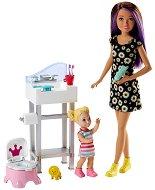 """Барби детегледачка - Комплект за баня - Кукла и аксесоари от серията """"Skipper Babysitter"""" -"""