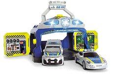 """Полицейски команден център - Комплект от 2 колички и станция със светлинни и звукови ефекти от серията """"SOS"""" -"""