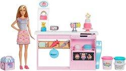 """Сладкарницата на Барби - Комплект за игра с моделин и аксесоари от серията """"Barbie - Искам да бъда"""" - образователен комплект"""