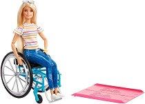 """Барби в инвалидна количка - Кукла и аксесоари от серията """"Fashionistas"""" - играчка"""