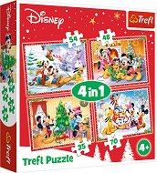 """Коледа с Мики Маус и приятели - 4 пъзела от серията """"Мики Маус"""" - пъзел"""