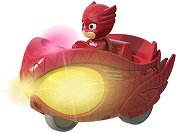 """Совина с кола - Мисия състезател - Детска метална играчка със светлинни и звукови ефекти от серията """"PJ Masks"""" - играчка"""