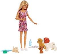 """Барби се грижи за кученца - Doggy Daycare - Кукла и аксесоари от серията """"Barbie - Искам да бъда"""" -"""