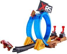 """Писта с изстрелвачка - XRS Crash Challenge - Комплект с 1 количка от серията  """"Колите"""" - играчка"""