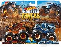 """Бъгита - Scorcher vs. 32 Degrees - Комплект от 2 метални колички от серията """"Hot Wheels: Monster Trucks"""" -"""
