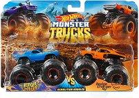 """Бъгита - Rodger Dodger vs. Dodge Charger R/T - Комплект от 2 метални колички от серията """"Hot Wheels: Monster Trucks"""" -"""