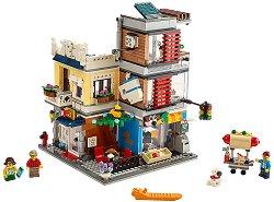 """Зоомагазин с кафене - 3 в 1 - Детски конструктор от серията """"LEGO Creator"""" - играчка"""